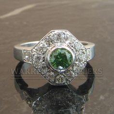 How about a green Diamond engagement ring?  Custom Jewelry | Warren Jewelers | Burlington WA