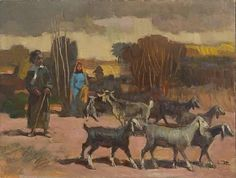 Iraqi Pastoral Scene (1988) - Faeq Hassan