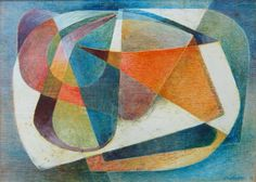 Frank Hinder Abstract painting,1946  tempera on gesso on hardboard  signed & dated lr  16 x 22  Provenance:  Exhibitions:  References:  Prelim sketch for AGNSW abstract 1951
