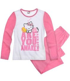 Hello Kitty Pyjama White Top Set Girls 3-4 Years | Winter 2013 Collection: Amazon.co.uk: Clothing