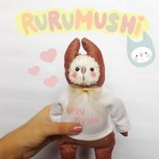 Plushie Rurumushi Orange doll Art doll Soft art doll Teddy   Etsy Hello Everyone, Plushies, Art Dolls, Recycling, Teddy Bear, Orange, Toys, Create, Sweet