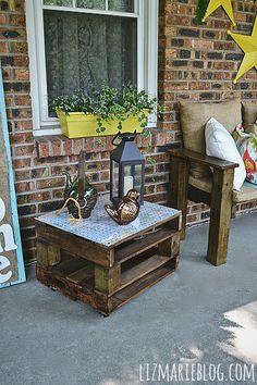 Verano Porche DIY Pallet Muebles -