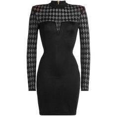 Balmain Mini Dress (13.396.085 IDR) ❤ liked on Polyvore featuring dresses, balmain, balmain dress, short dresses, glamorous dresses and mini dress