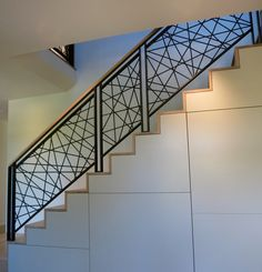 Artistic stair rail, guard rail, hot rolled steel railing, bees wax finish on steel, hot rolled steel, 522 industries, five twenty two industries,
