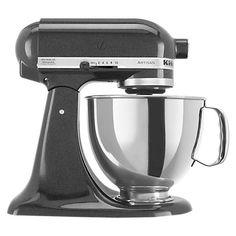 Buy KitchenAid 150 Artisan 4.8L Stand Mixer, Black Caviar Online at johnlewis.com