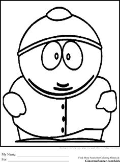 Southpark Coloring Pages for teens