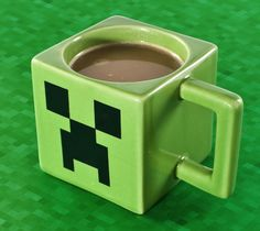Minecraft Mug / The morning routine is a sacred ritual. Whether you slurp down a mug of joe at home or the office, having your own special mug is an important part of that process. http://thegadgetflow.com/portfolio/minecraft-mug/
