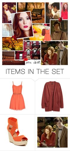 """""""Amelia Pond & The Doctor"""" by rainbowbaconcupcake ❤ liked on Polyvore featuring art"""