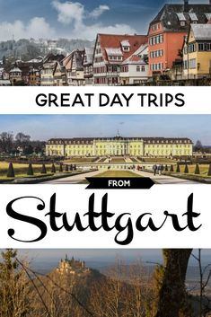 Stuttgart in southern Germany is easy to get to, but don't limit your exploring to the city. Here are some great day trips from Stuttgart that take in castle, palaces, gardens, and half-timbered towns. Backpacking Europe, Europe Travel Guide, Visit Germany, Germany Travel, Europe Destinations, Stuttgart Castle, Stuttgart West, Road Trip, Reisen In Europa