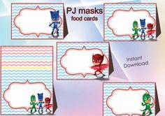 Instant Download PJ Masks food labels PJ Masks by alisprint