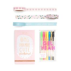 what's the first thing you do when you get your new agenda? personalize it, duh. we're making it easy for you by putting everything you need in one bundle. you