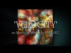 Abstract Painting Techniques 'VELOCITY' How to Demo Blend, Shade - YouTube