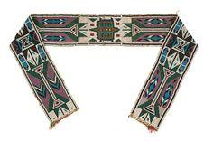 Western Great Lakes Loom Beaded Sash - Cowan's Auctions
