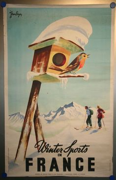 Catawiki online auction house: Tourism: winter sports - Jean Leger - 1950s
