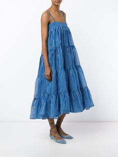 Mes Demoiselles Eva Stripe Tiered Dress