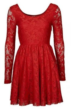 My new red lace dress!