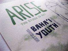 Flyer for Baha'i Youth. Wonderful design.