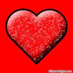 Red Glitter Heart