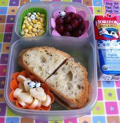 Fun Simple Panda Bento Lunch - love the panda! Easy Lunch Boxes, Bento Box Lunch, Bento Lunchbox, Box Lunches, School Lunches, Kids Packed Lunch, Lunch To Go, Lunch Kids, Bento Kids
