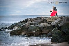 Engagement Photo session at the beach with Yamean Studios in Asbury Park, NJ