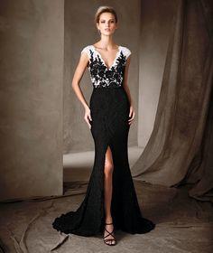 CARLA - Vestido comprido de festa Pronovias