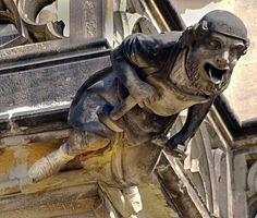 Mason Gargoyle, St. Vitus Cathedral, Prague, Czech Republic by Vin Crosbie, via Flickr