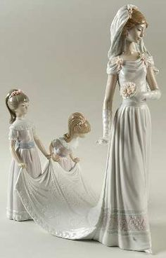 P0000014644S1823T2.jpg (288×450) Lladro FigurinesHere Comes The Bride - Nb793, No BoxbyLladro(View other Pieces in this Pattern)  Out of Stock