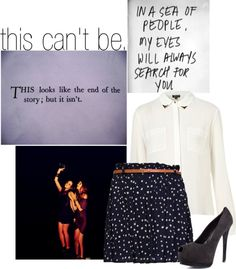 """no, no, no, no, no. //"" by elizabeth-gillies-anon ❤ liked on Polyvore"