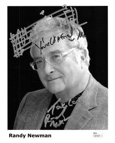 Newman, Randy - Signed Photo with Autograph Music Quote