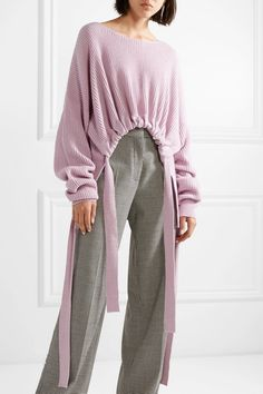 Lilac cashmere and wool-blend Slips on  95% cashmere, 5% wool Dry clean Imported