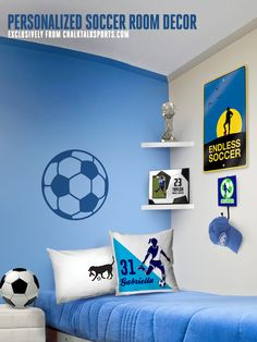 Check out all of this personalized soccer room decor!