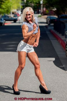 Female Physique Competitor Rikki Smead posing and flexing her lovely muscles for HDPhysiques!