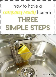 """Wife Mommy Me: 3 Steps to a """"Company Ready"""" Home  One thing that I'm known for by family and friends is my OCDness when it comes to our home. I'm notorious for keeping it """"company ready"""". I find that it's pretty easy to keep things in order; here are my tips to get your home ready for surprise visitors."""