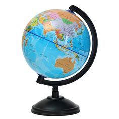 14cm Plastic Montessori Mini World Globe Atlas Map Gift Decoration With Swivel Stand Geography Educational Toy Kids In English In Stock - $9.98