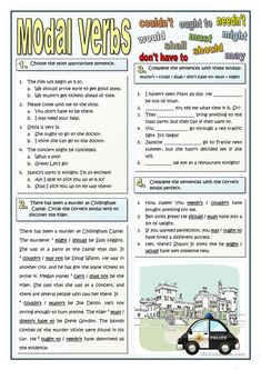 A collection of English ESL worksheets for home learning, online practice, distance learning and English classes to teach about modals, modals Teaching English Grammar, English Grammar Worksheets, English Idioms, English Language Learning, English Lessons, English Vocabulary, Grammar Exercises, English Exercises, Grammar Practice