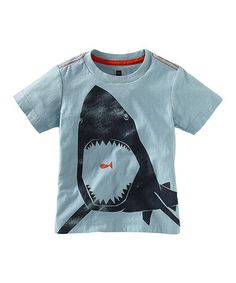 Take a look at this Powder Blue Great White Tee - Infant, Toddler & Boys by Tea on #zulily today!