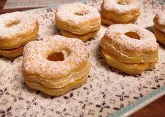 Túrós linzer   Margaréta 🌼 receptje - Cookpad receptek Creative Cakes, Bagel, Doughnut, Cake Recipes, Biscuits, Muffin, Bread, Baking, Food