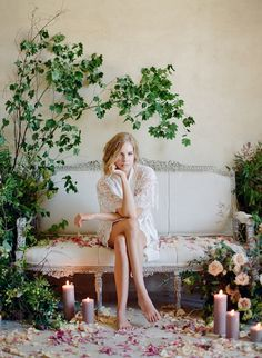 Feminine boudoir shoot: http://www.stylemepretty.com/2017/04/14/lace-florals-and-images-that-fully-embrace-feminine-beauty/ Photography: Jose Villa - http://josevilla.com/