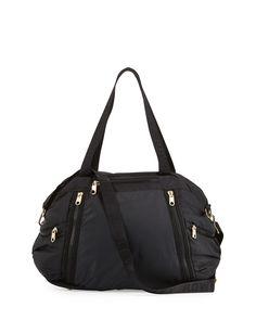 c104f7e930f Cynthia Rowley Alex L Duffle Bag With Leather Trim, Black Cynthia Rowley, Duffel  Bags