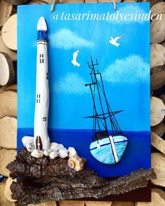 4 Likes, 1 Kommentare - mustafa cu . Stone Crafts, Rock Crafts, Diy And Crafts, Kids Crafts, Driftwood Crafts, Seashell Crafts, Beach Crafts, Rock And Pebbles, Rock Painting Designs