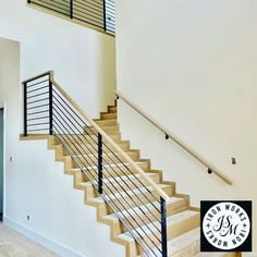 Contemporary Staircase – Famous Last Words Staircase Railing Design, Modern Stair Railing, Staircase Handrail, Modern Stairs, Interior Stairs, Interior Exterior, Staircase Contemporary, Steel Gate Design, Floating Staircase