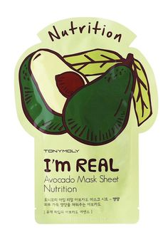 I'm Real Avocado Mask Sheet, Nutrition