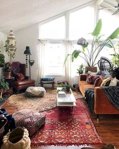 Awesome Bohemian Living Room Decor Ideas « Home Decoration Bohemian Living, Boho Living Room, Cozy Living Rooms, Living Room Interior, Living Room Decor, Modern Bohemian, Boho Chic, Bohemian Style, Bohemian Decor