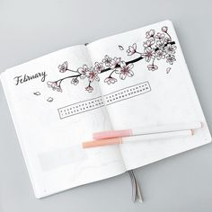 A simple spread for this week 🌸 How is everyone? Keen for the weekend? Bullet Journal Writing, Bullet Journal School, Bullet Journal Themes, Bullet Journal Ideas Pages, Bullet Journal Inspiration, Cherry Blossom Drawing, Cherry Blossom Theme, Cute Handwriting, Bujo Doodles