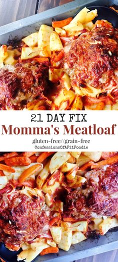 21 Day Fix Momma's Meatloaf