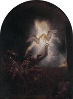 The Resurrection, Harmenszoon van Rijn (1639). Part of the Passion series for Frederik Hendrik. Alte Pinakothek, Munich.