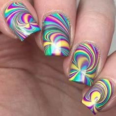 Discover the latest collections of Nail art and variety of nail art designs for your pretty hands and legs. Check out the latest designs of nail art for any occasion here. Fabulous Nails, Gorgeous Nails, Pretty Nails, Crazy Nails, Fancy Nails, Crazy Nail Art, Cute Nail Art, Beautiful Nail Art, Rainbow Nails