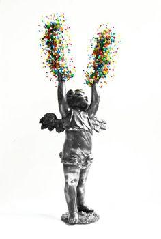 Massimiliano Pelletti Untitled 2012 Fusione in peltro, magneti e spilli Misure: 40 cm