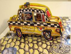"""Limited Edition Print """"N.Y.C. Taxi on the Street 3-D"""" by Red Grooms"""