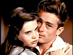James Dean and Lois Smith in a screentest for 'East of Eden', 1955 - GIF